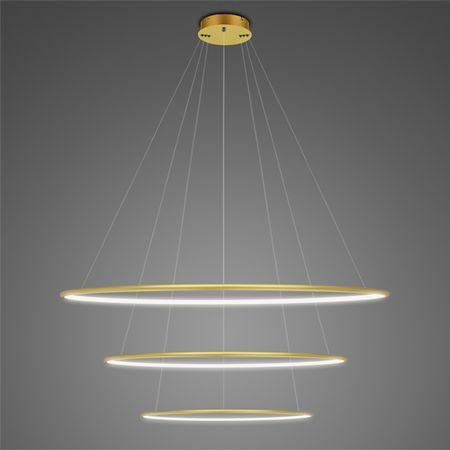 złota lampa wisząca LED ringi