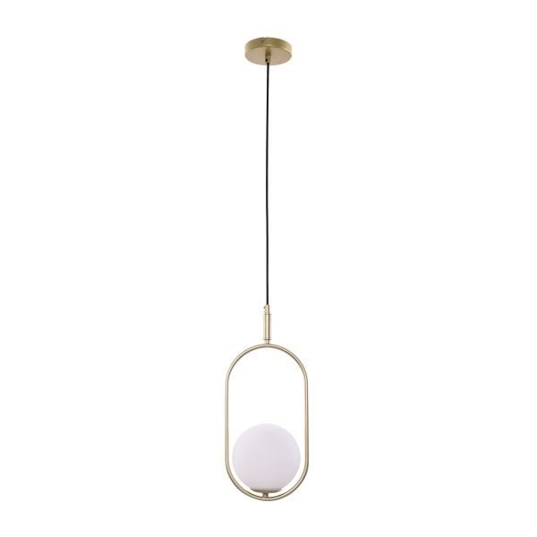 Nowoczesna lampa wisząca Cordel - szklany klosz, kula