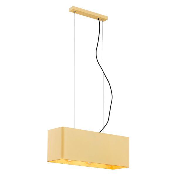 Metalowa lampa wisząca Teneryfa – złoty klosz