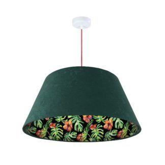 Lampa wisząca Jungle - welurowy abażur