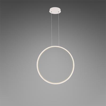 biała lampa wisząca pionowy ring
