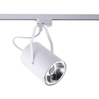 Biały reflektor Bit Plus - regulowany, system szynowy