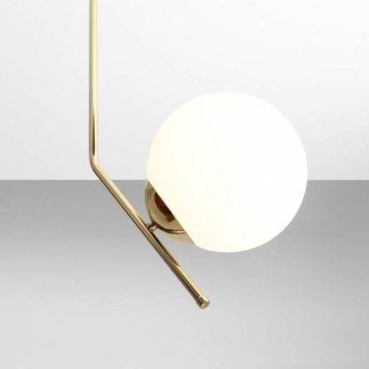 designerska złota lampa wisząca geometryczna