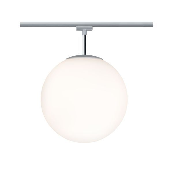 lampa sufitowa kula biała szynowa