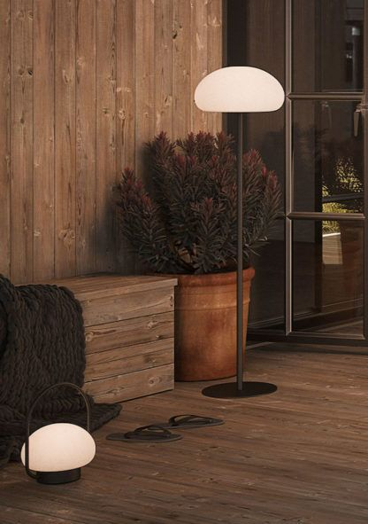 lampa podłogowa tarasowa przenośna