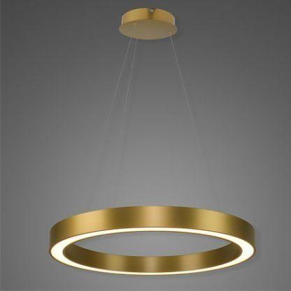 lampa wisząca złoty ring