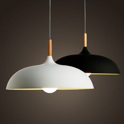 lampa wisząca biała skandynawska - do kuchni