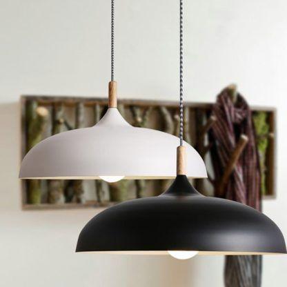 lampa wisząca czarna skandynawska - do kuchni