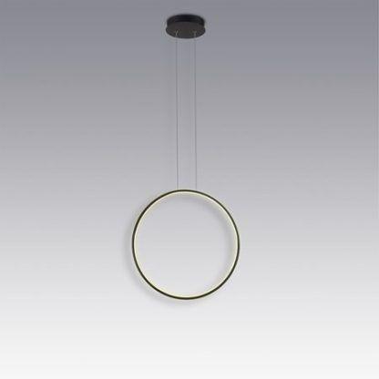mała czarna lampa wisząca LED