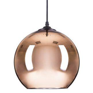 Lampa wisząca szklana Mirror Glow M - miedziana