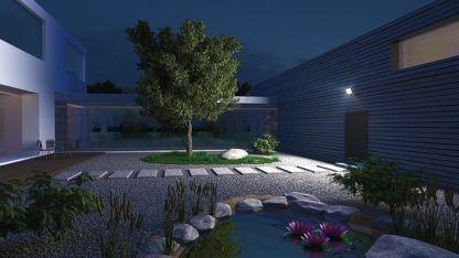 naświetlacz ogrodowy przed drzwi