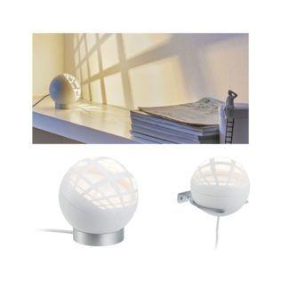 Lampa stołowa / kinkiet Favia - biała kula