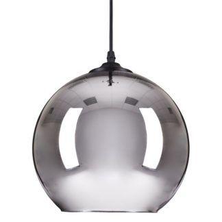 Designerska lampa wisząca Mirror Glow - szklana, srebrna
