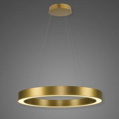 złota okrągła lampa wisząca ring