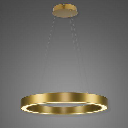 złota lampa wisząca ring