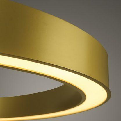 złoty ring led nowoczesna lampa