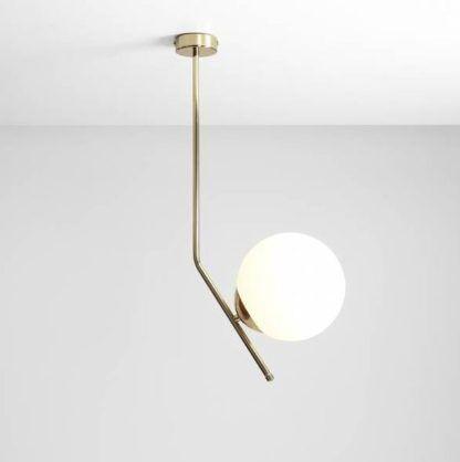 złota lampa wisząca do sypialni nowoczesna