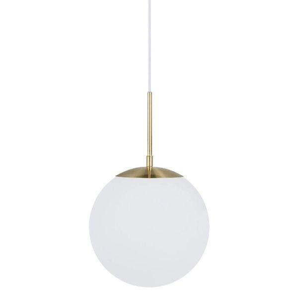 lampa wisząca ze szklanym kloszem