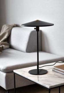 Czarna lampa stołowa Balance - LED, włącznik w podstawie