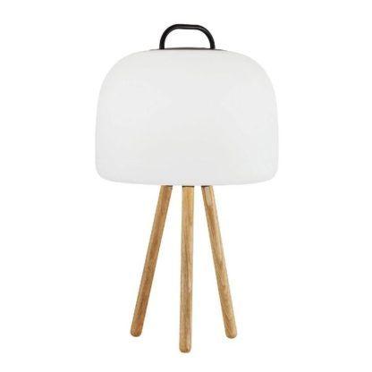 drewniany tripod stołowy drewniany