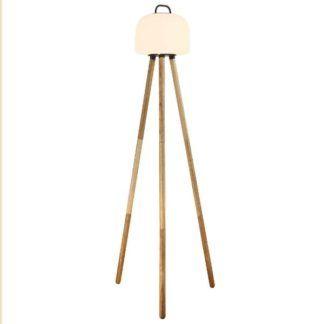 Podstawa do lampy podłogowej Kettle - drewniany trójnóg