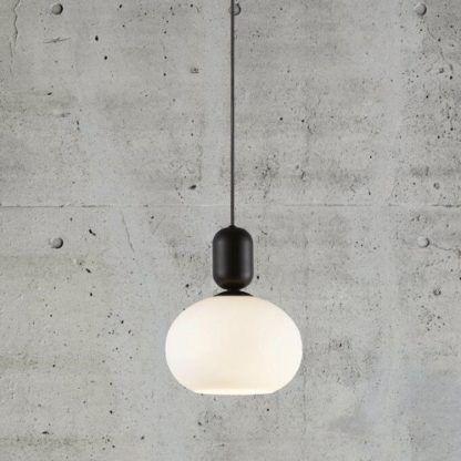 lampa wisząca mleczna kula
