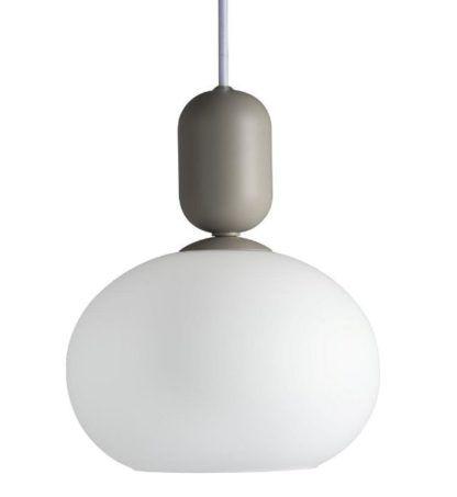lampa wisząca z mlecznego szkła