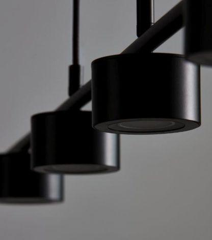 ledowa lampa wisząca czarna