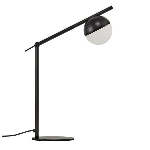 czarna lampa biurkowa