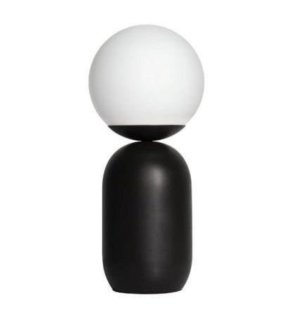 nowoczesna lampa stołowa biel i czerń