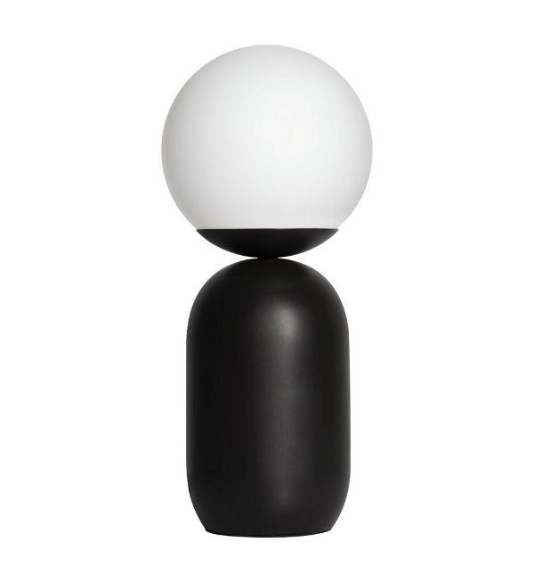 designerska lampka stołowa