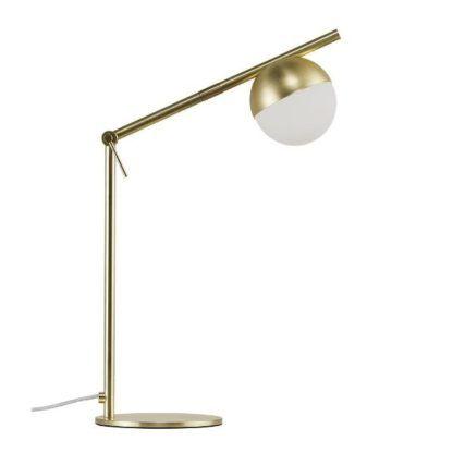 nowoczesna złota lampa stołowa