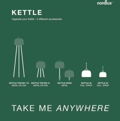 Mobilna lampa ogrodowa Kettle 22- LED, ściemniacz