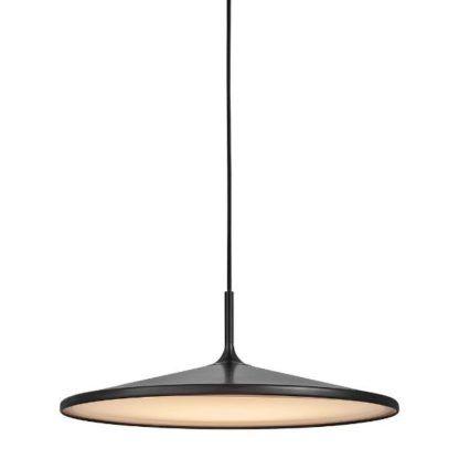 płaska lampa wisząca czarny mat