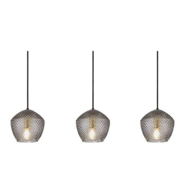 Lampa wisząca Orbiform - 3 szklane klosze