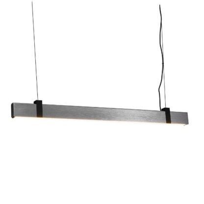 srebrna lampa wisząca nad stół