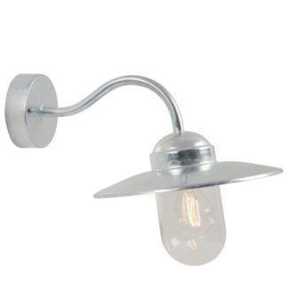 Srebrny kinkiet Luxembourg - Nordlux - szklany klosz, IP54