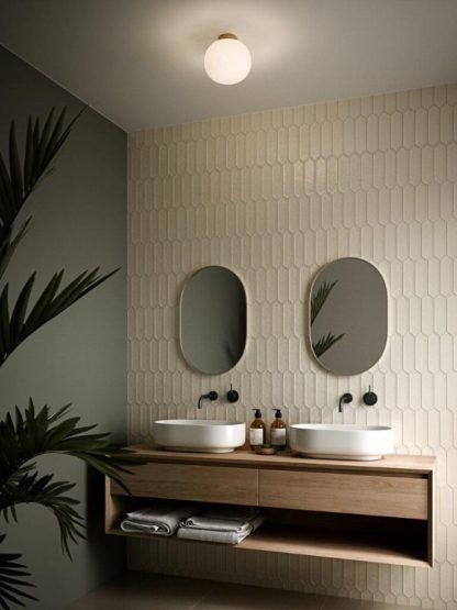 szklany plafon do łazienki aranżacja