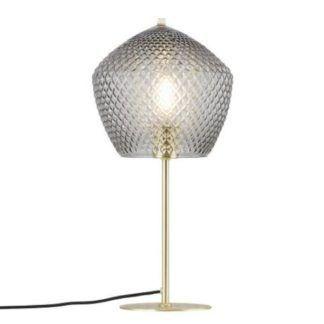 Szklana lampa stołowa Orbiform - złota podstawa