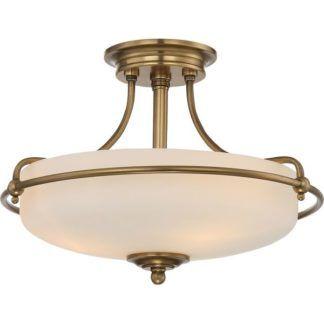 Szklana lampa sufitowa Griffin - złota oprawa