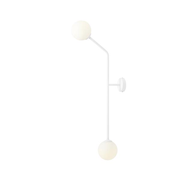 Biały kinkiet / lampa sufitowa Pure Vertical - 2 szklane klosze