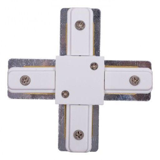 Łącznik krzyżowy Profile X-connector - biały, system szynowy