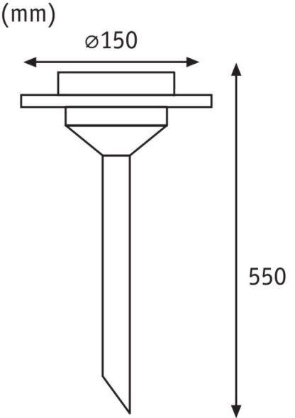 Słupek solarny Ufo - LED, stal nierdzewna