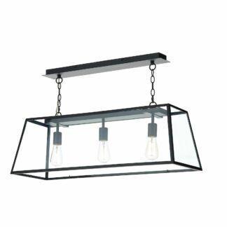 Czarna lampa wisząca Academy - szklana
