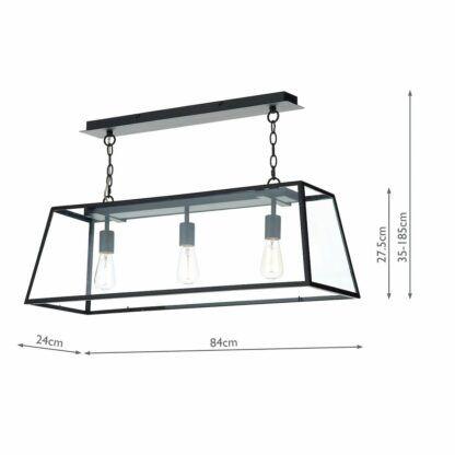lampa nad stół czarna rama