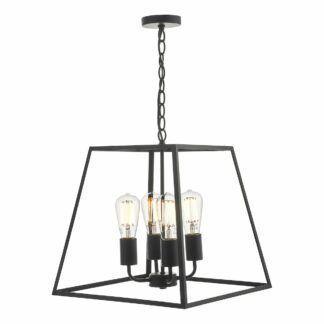 Czarna lampa wisząca Academy - latarnia