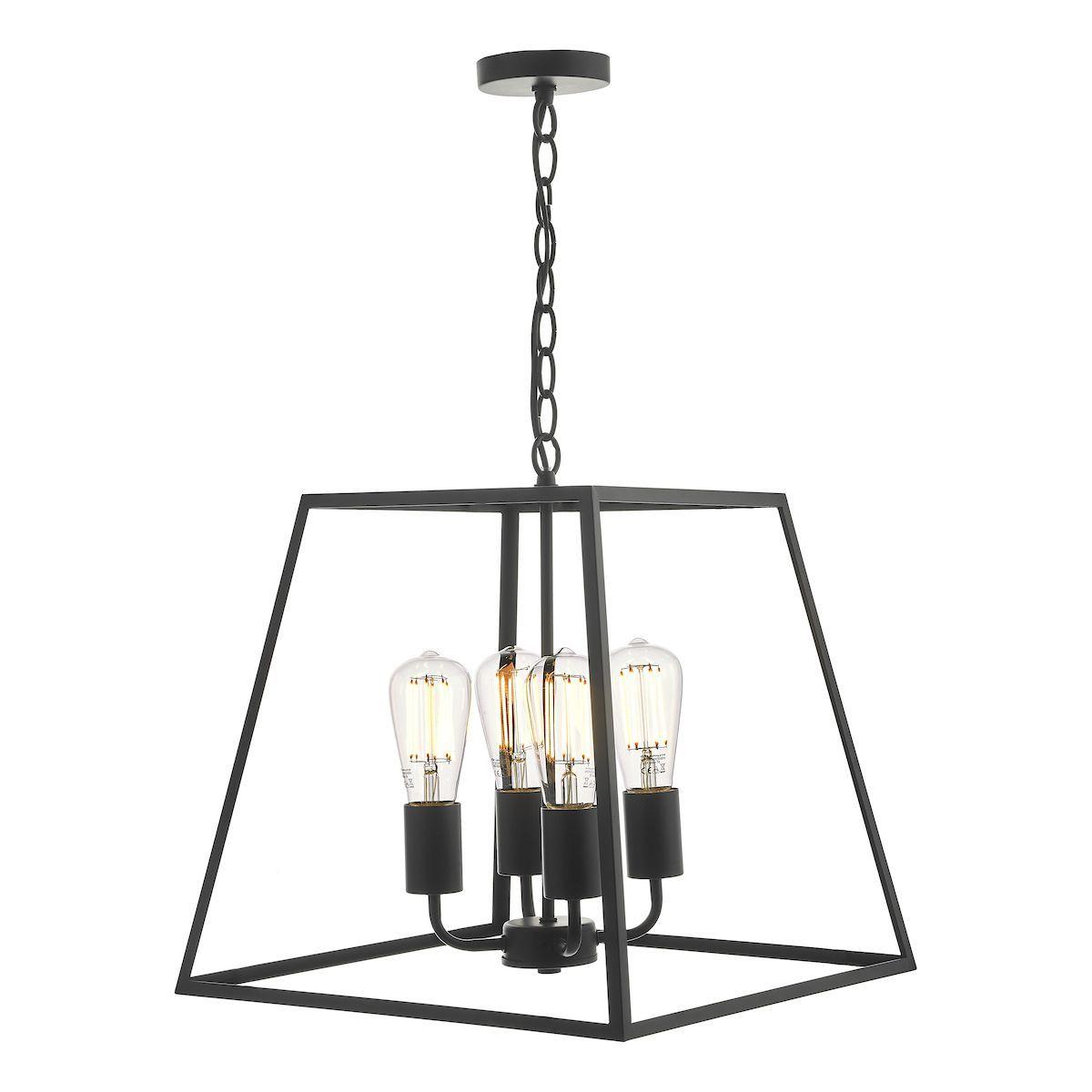 metalowa lampa wisząca latarnia czarna