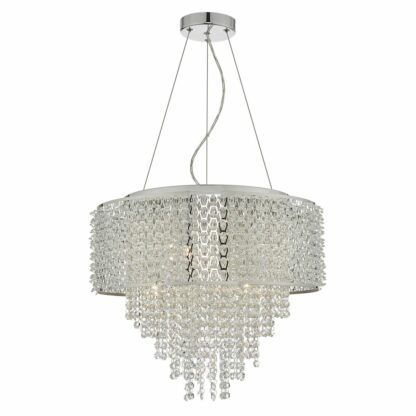 duża lampa wisząca kryształowa