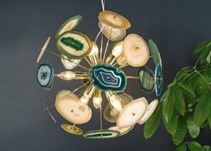 dekoracyjna lampa z agatu