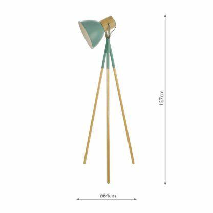 lampa podłogowa miętowy klosz